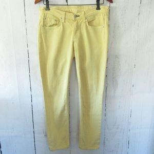 Rag & Bone Skinny Jeans Mid Rise Yellow Denim